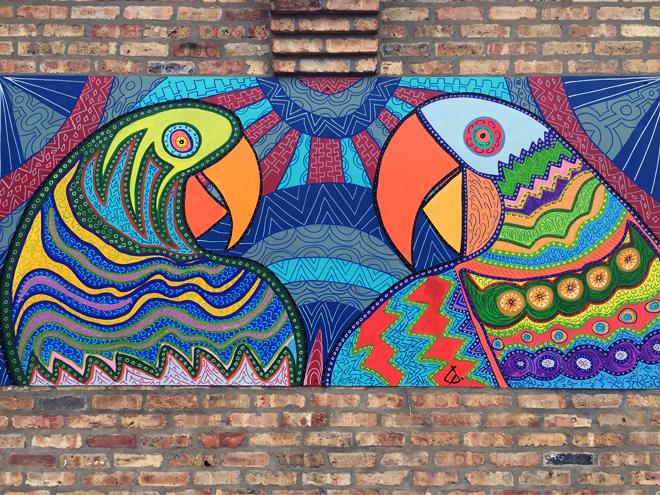 Tony Passero PAiRROTS Mural Wall Shot
