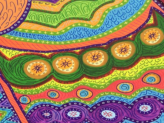 Tony Passero PAiRROTS Mural parrot detail
