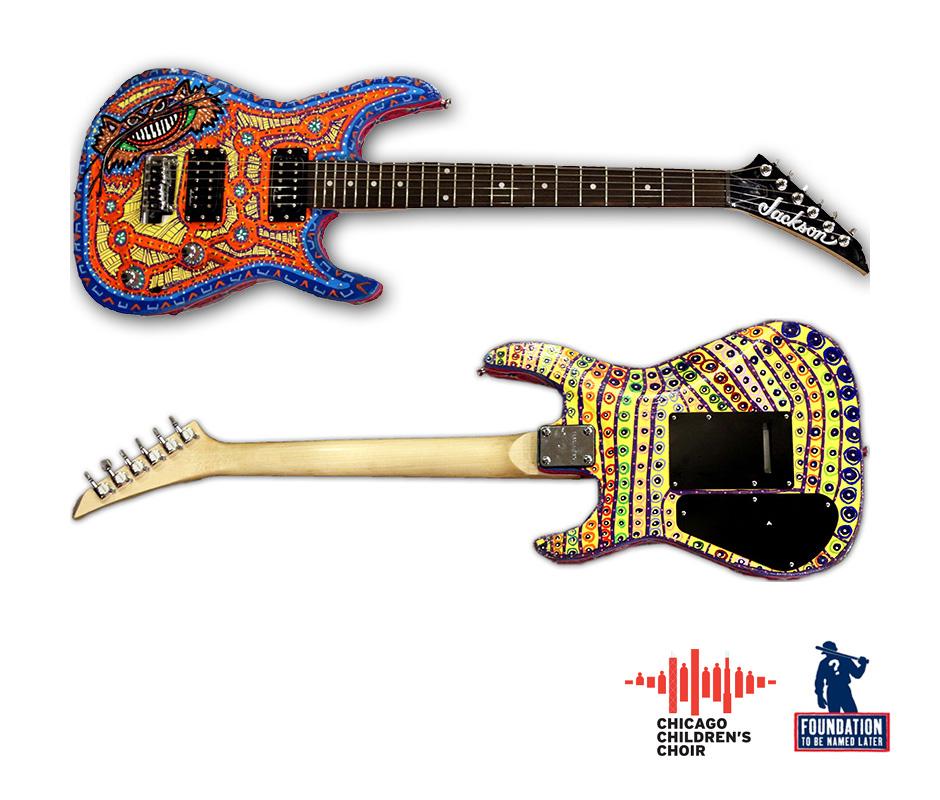 Tony Passero Sculpture and Dimensional HepCat Guitar Detail