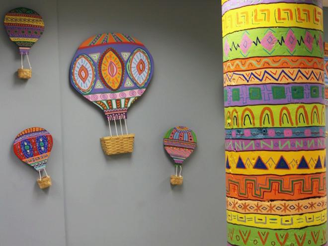 Tony Passero Mural LSSI Foster Care Center Pillar Detail