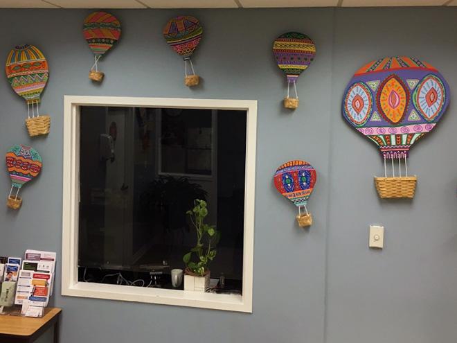 Tony Passero Mural LSSI Foster Care Center Reception Detail