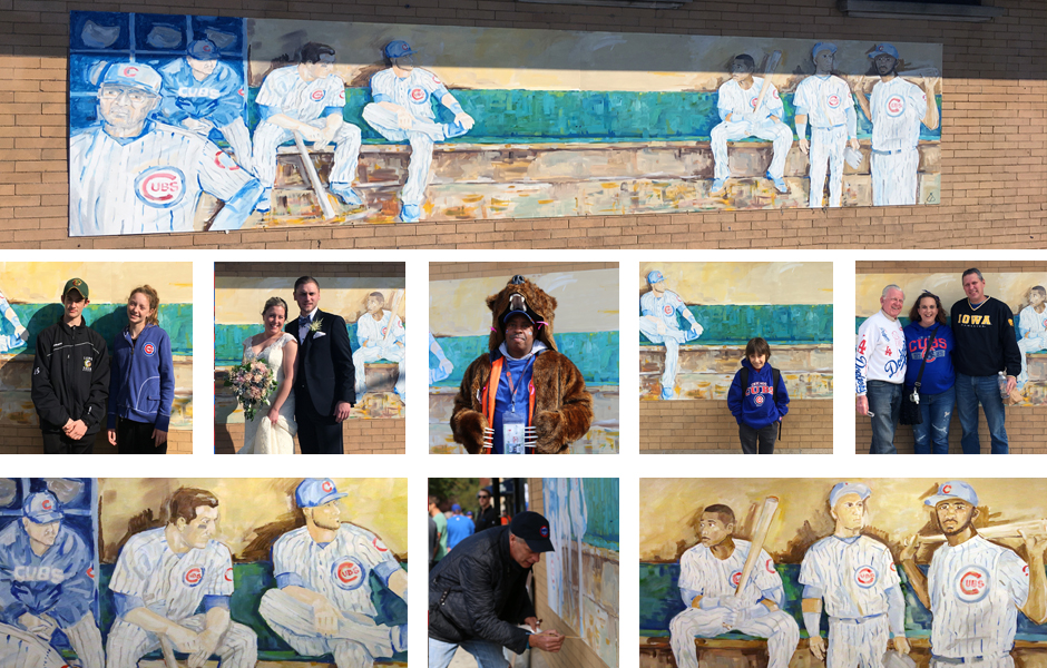 Tony Passero Chicago Cubs Dugout Mural Detail