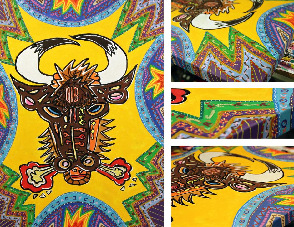 Tony Passero Painting Mondo Toro  Detail