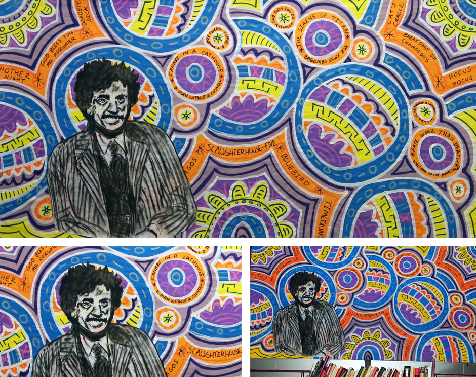 Tony Passero Painting Author Series Kurt Vonnegut Detail
