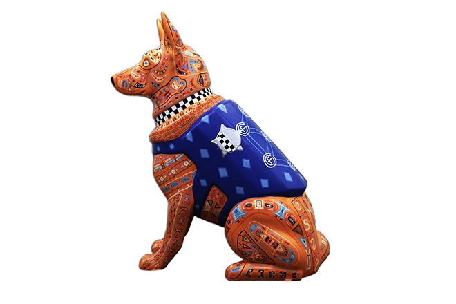 Tony Passero Chicago K9s for Cops Sphinx Shepherd Left Side Image