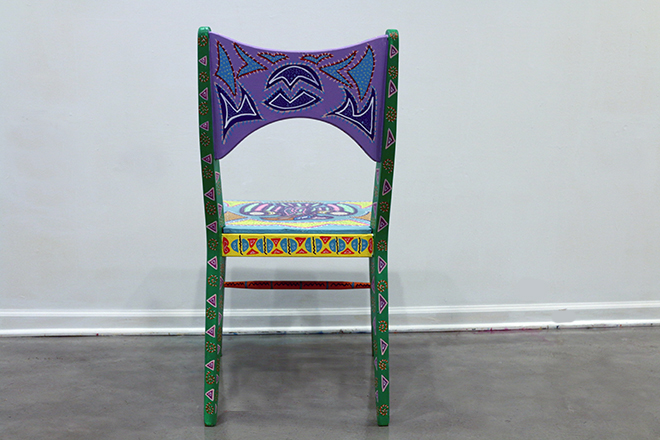 Tony Passero Chicago Have A Seat Chicago Fly Chair Back Detail