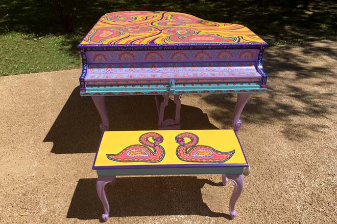 Tony Passero Swan Song Piano Front View