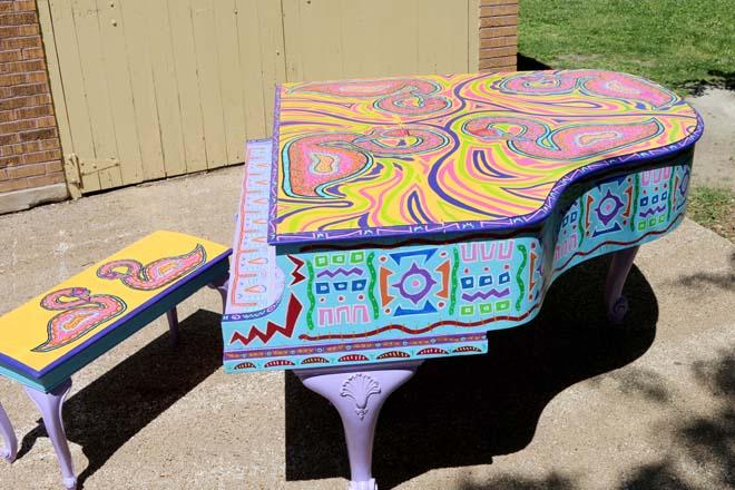 Tony Passero Swan Song Piano Right Side View