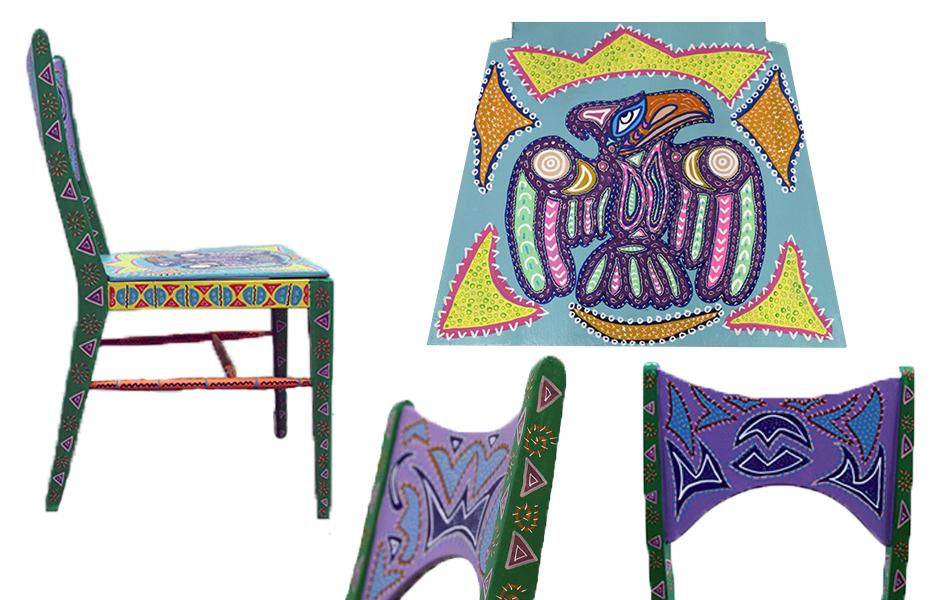 Tony Passero Artist Dimensional Fly Chair Detail