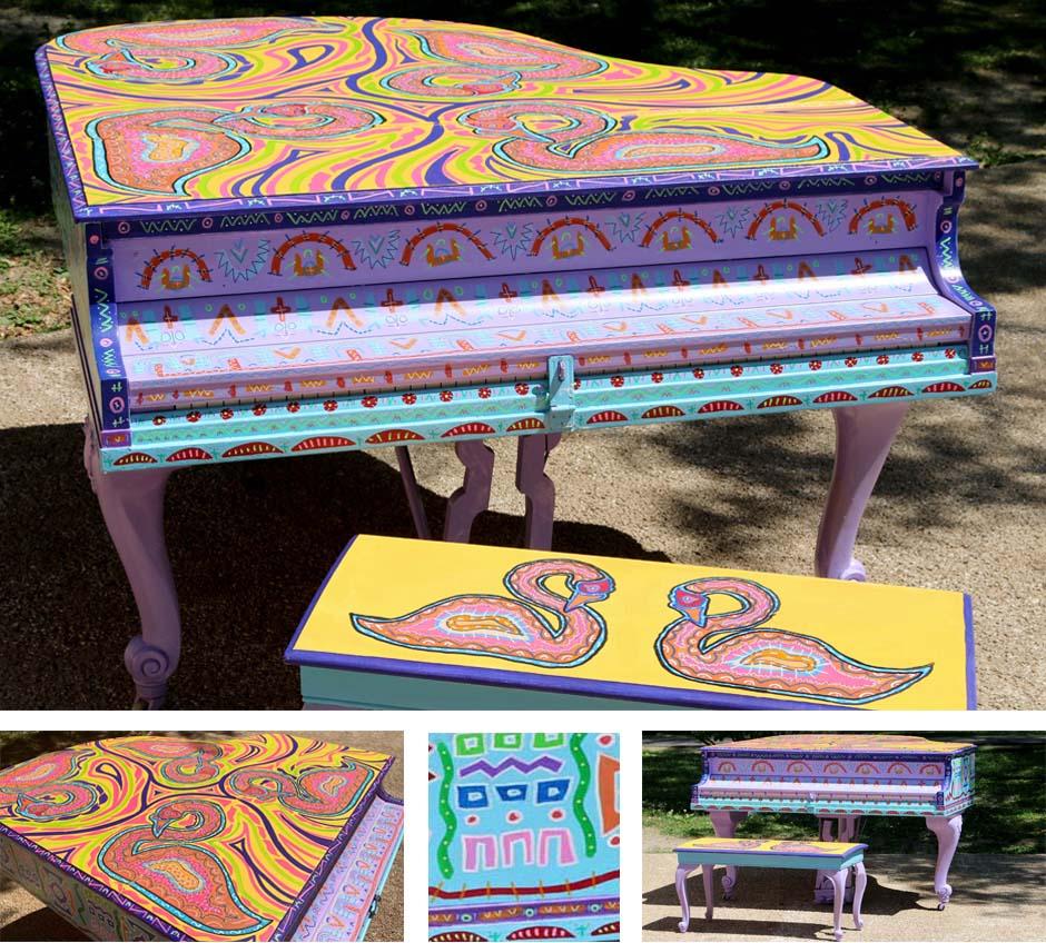 Tony Passero Artist Swan Song Piano Detail