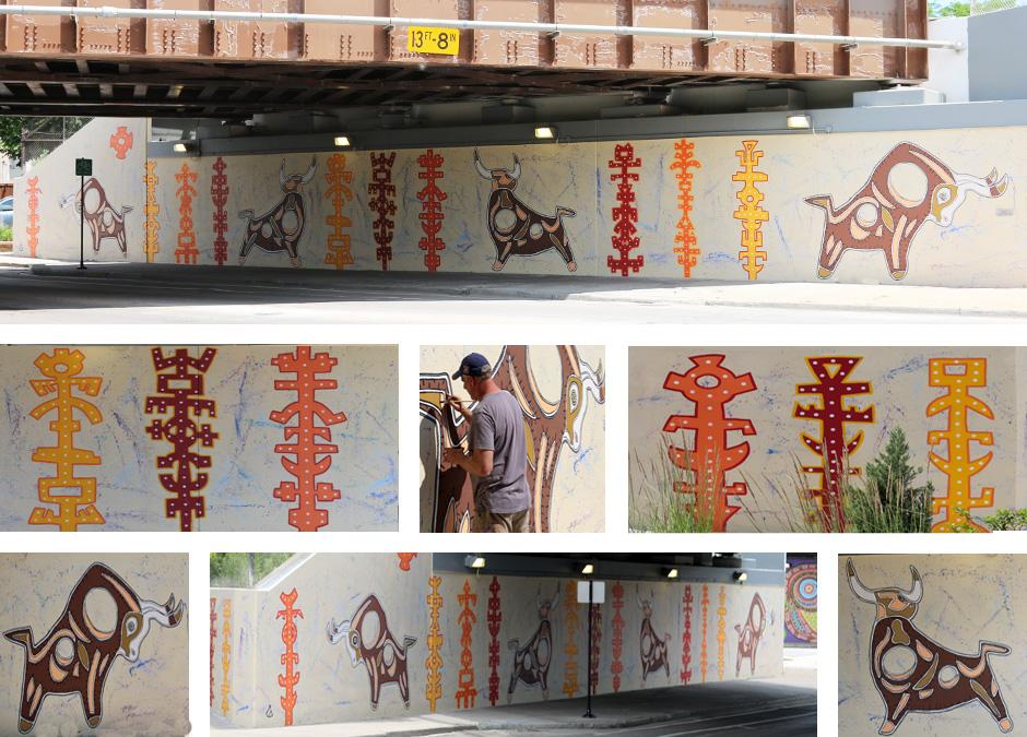 Tony Passero Toro Totem Mural Detail