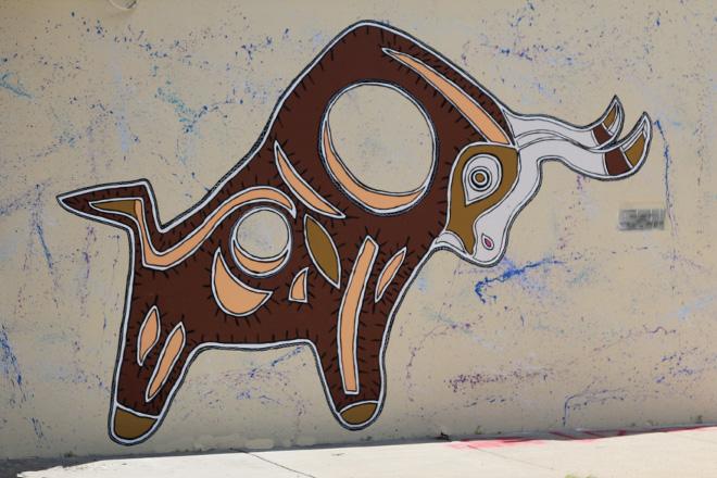 Tony Passero Toro Totem Mural Left Corner Bull
