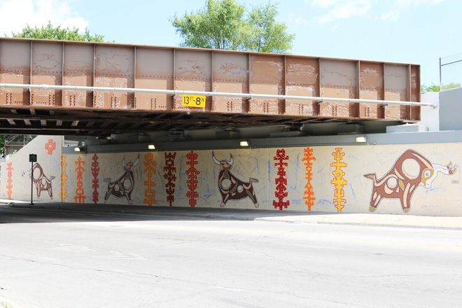 Tony Passero Toro Totem Mural  Long view from Left