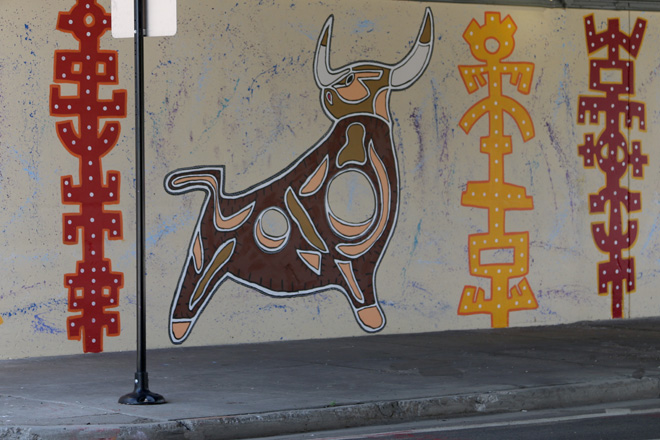 Tony Passero Toro Totem Mural Left Bull