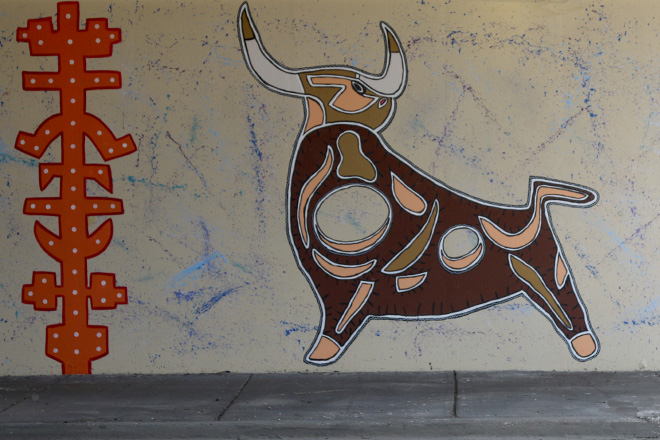 Tony Passero Toro Totem Mural Right Bull