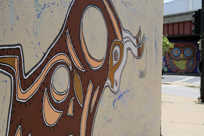 Tony Passero Toro Totem Mural  New Work Looking out to Past Work