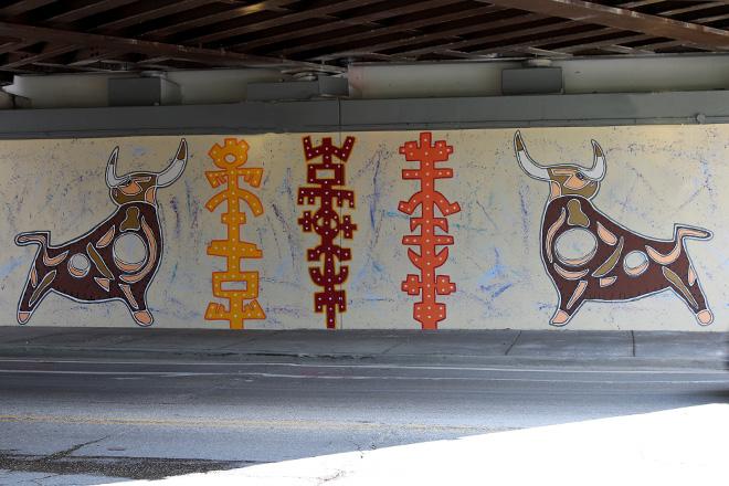 Tony Passero Toro Totem Mural Street View
