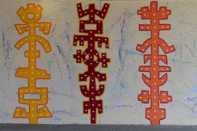 Tony Passero Toro Totem Mural Totems Detail