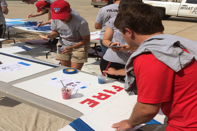 Tony Passero Chicago Fire Jersey Major League Soccer Mural Volunteers Painting 7