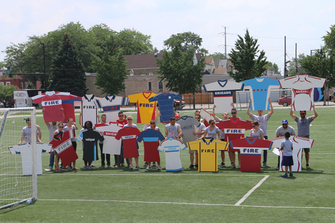 Tony Passero Chicago Fire Jersey Major League Soccer Mural End of Day 1