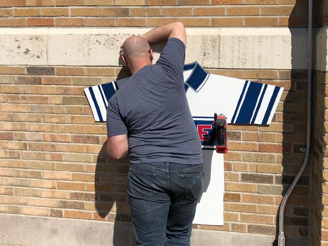 Tony Passero Major League Soccer Chicago Fire Jersey Mural  Dan Drill