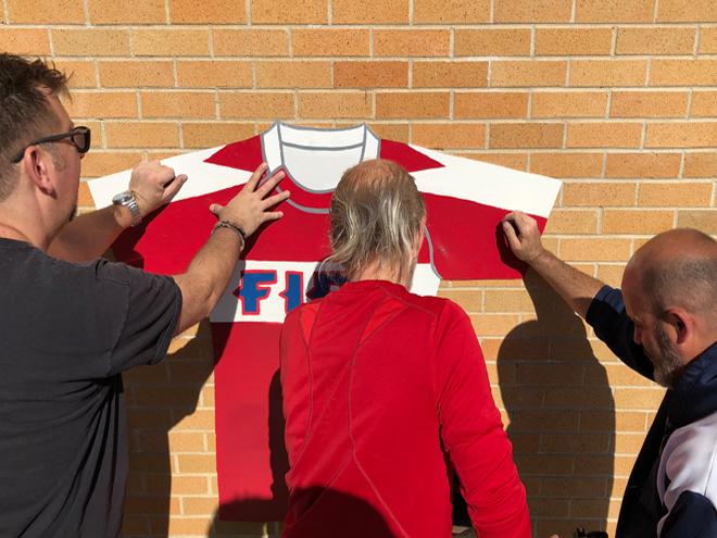 Tony Passero  Major League Soccer Chicago Fire Jersey Mural Jersey Install