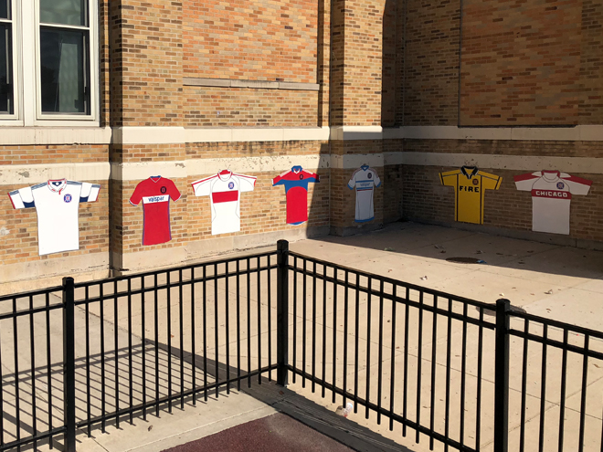 Tony Passero Major League Soccer Chicago Fire Jersey Mural Corner Wrap View