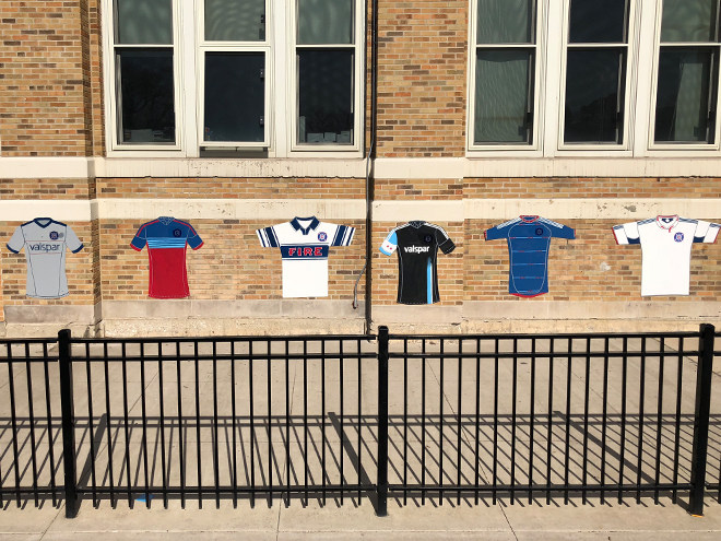 Tony Passero Major League Soccer Chicago Fire Jersey Mural Low Wall View