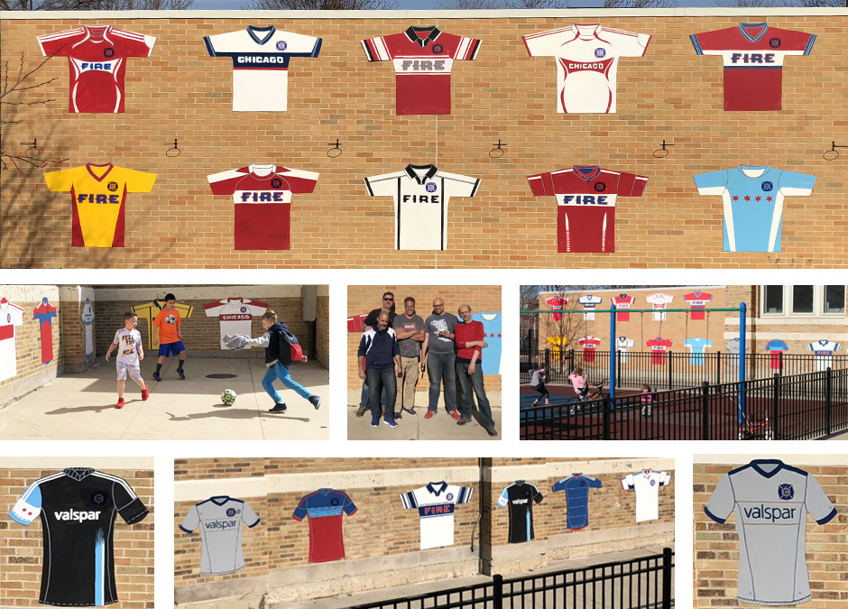 Tony Passero Major League Soccer Chicago Fire Jersey Mural  Grid View