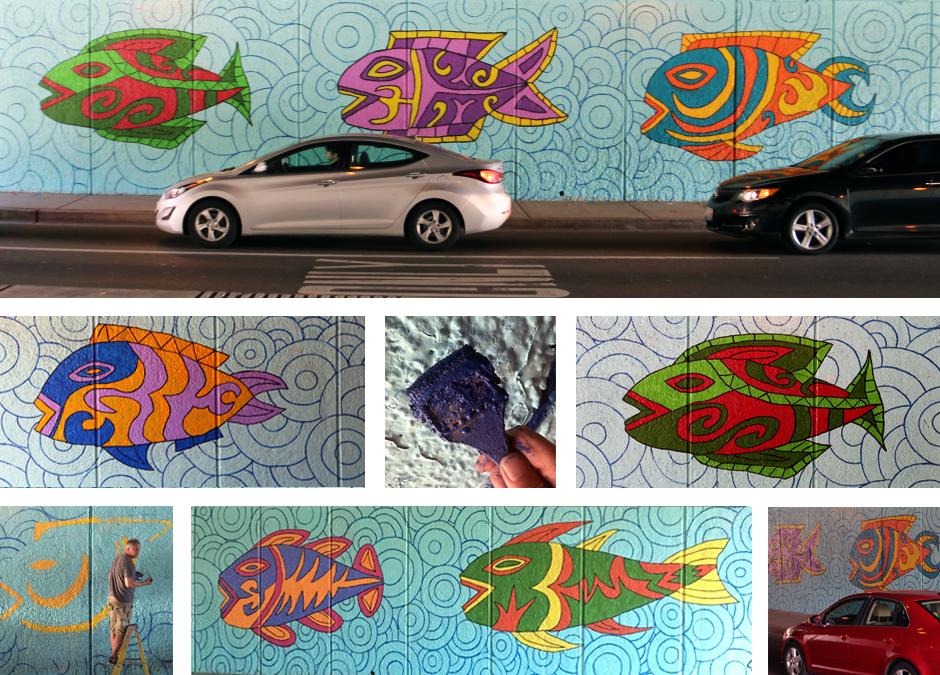 Tony Passero Under LSD Mural Detail