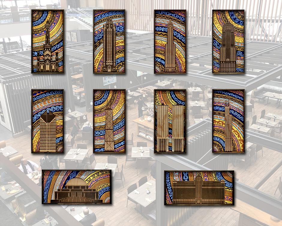Tony Passero ArcTexture Installation Hyatt Regency Chicago