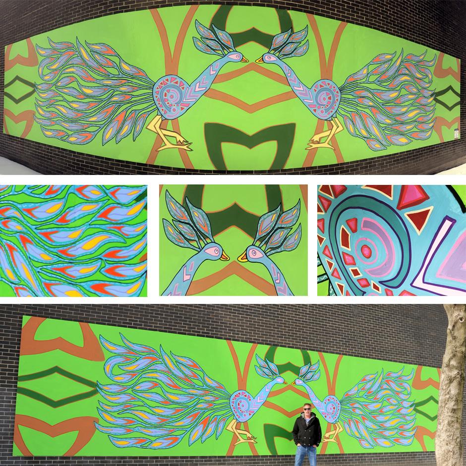 Tony Passero Feather Run Mural Detail