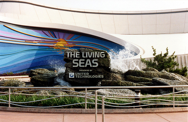 The Living Seas Pavilion Sunrise Sunset Mural