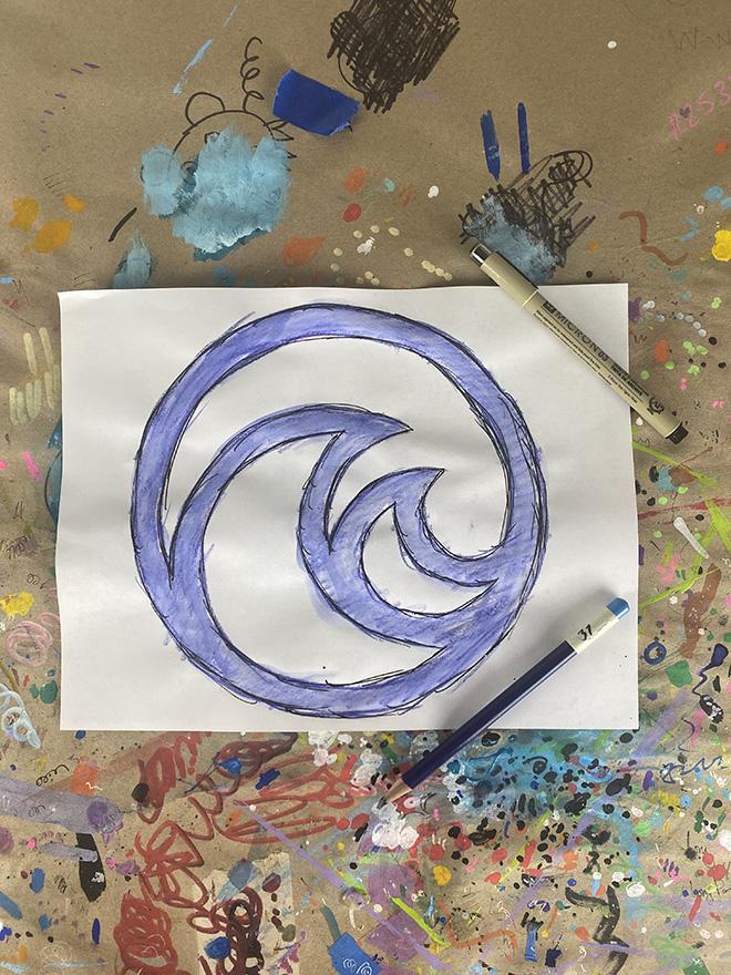 Tony Passero Disney Epcot Living Seas Mural Project Logo Study Number 2