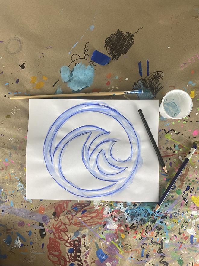 Tony Passero Disney Epcot Living Seas Mural Project Logo Study Number 3