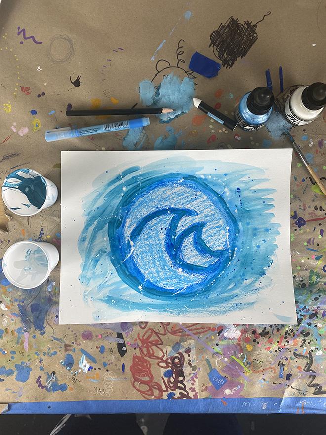 Tony Passero Disney Epcot Living Seas Mural Project Logo Study Number 5