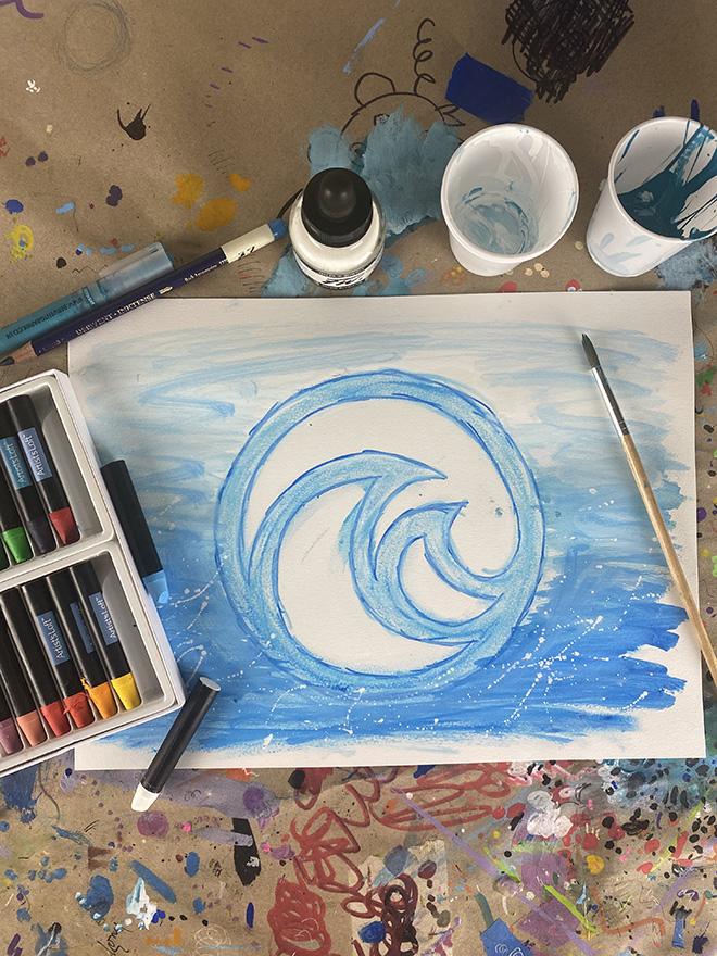 Tony Passero Disney Epcot Living Seas Mural Project Logo Study Number 10