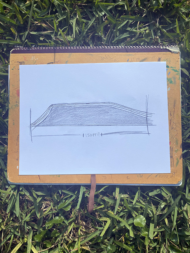 Tony Passero Disney Epcot Living Seas Mural Project Pavilion  Entrance Wall Flat Reference Sketch