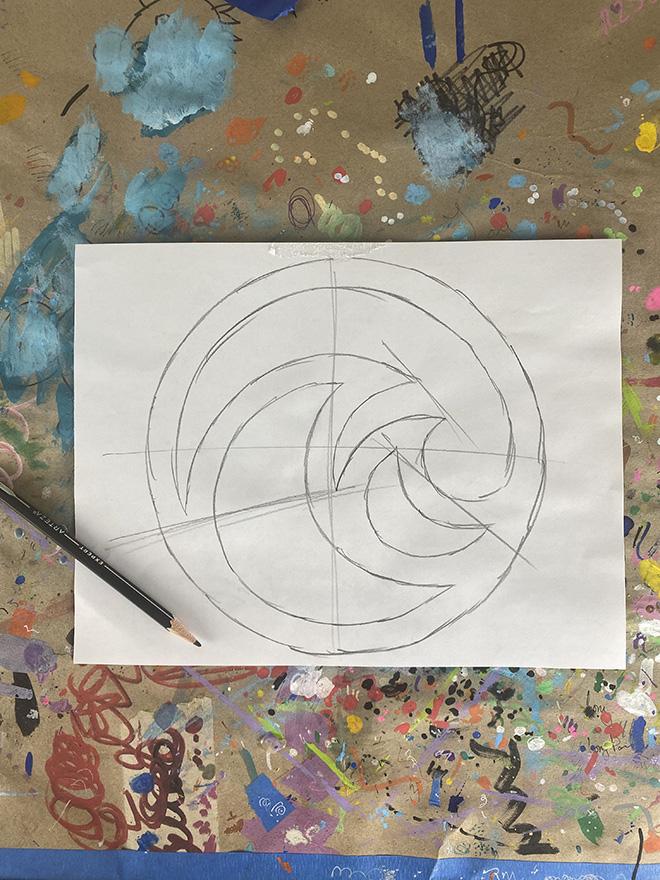 Tony Passero Disney Epcot Living Seas Mural Project Logo Study Number 1